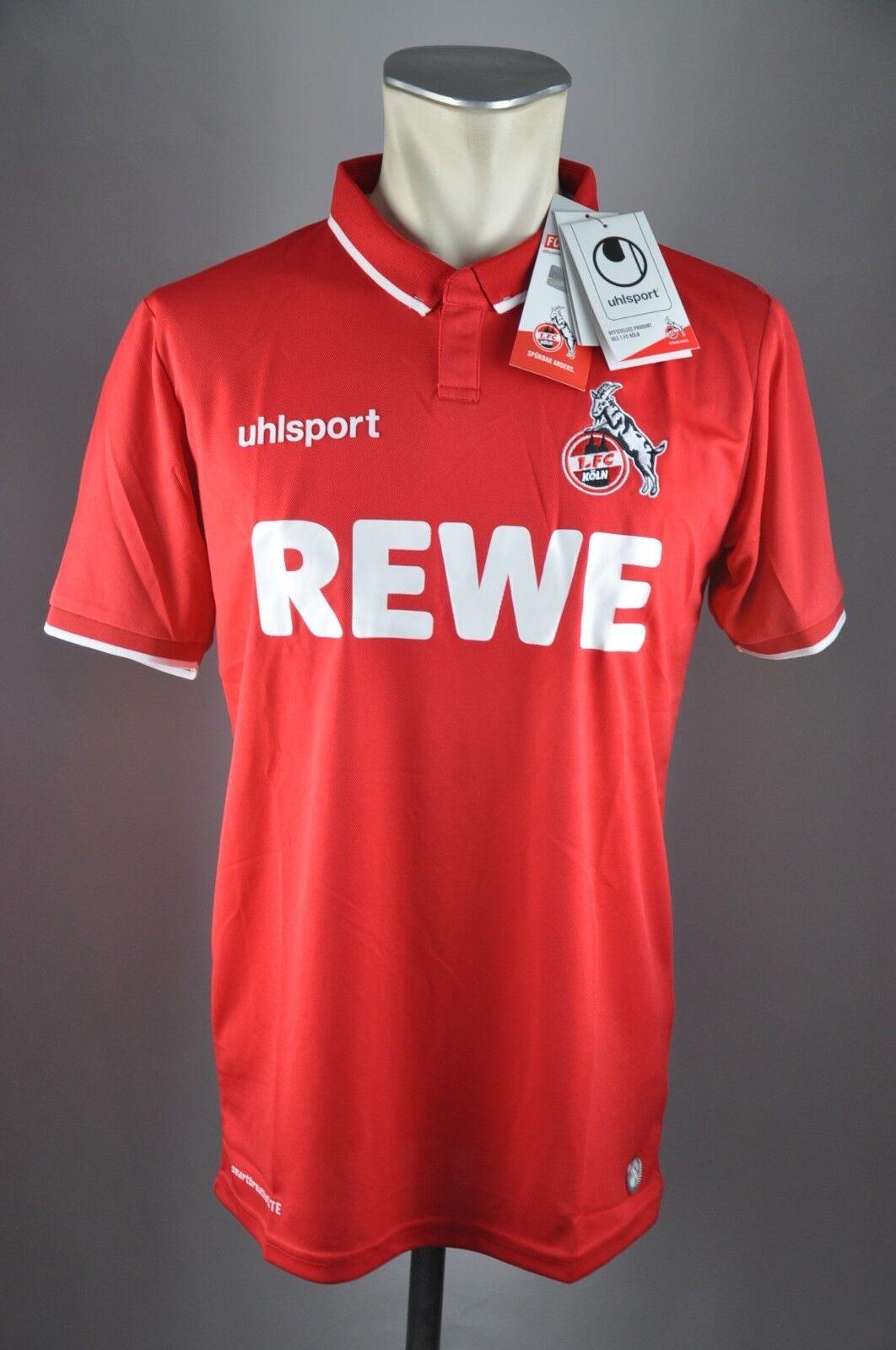1.FC Köln Trikot Trikot Trikot Gr. S M L XL XXL Rewe 2018 Away rot Herren Cologne Uhlsport NEU  | Outlet Store  164d65