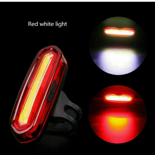Bicycle Rear Light 120 Lumen COB LED with USB Rechargeable 650mah Battery 6 Mode Light