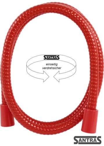 einseitig verdrehsicher Santras Brauseschlauch in rot in diversen Längen