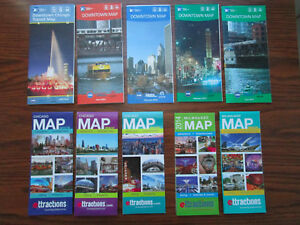 Cta Subway Map Chicago.Details About 10 Maps Chicago Usa Downtown Map Cta Subway Metro Attractions Ord Milwaukee