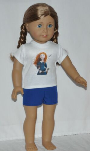 Merida Top and Shorts Set Fits American Girl Doll Dolls