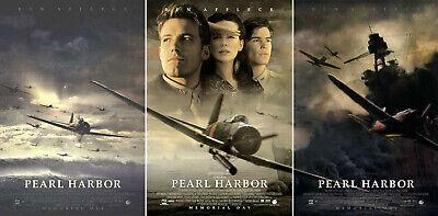 Pearl Harbor 2001 Set Of 3 Movie Posters Original Ds Unused Nm Rolled Ebay