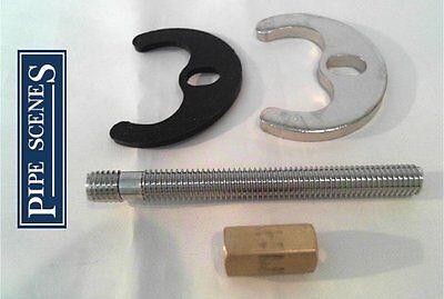 Mezclador para lavabo monobloc Tap fijación Kit 1 Perno Solo Tornillo Tipo Herradura Placa