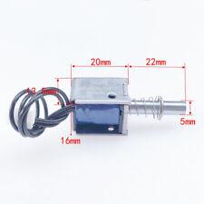 6v 24v 12v Dc Suction Electromagnet Spring Push Pull Solenoid Magnets 5mm Stroke