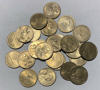 2001 P /& D $1 Sacagawea Native American Dollar 2 Coin Set From Mint Rolls