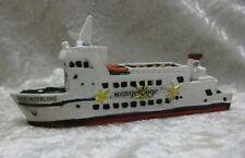 12 cm Hamburg Hamburge... Schiffsmodell MS Alsterschwan Miniatur Boot Schiff ca