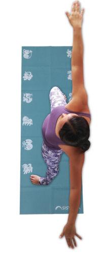 Pliable de genou Pad Coussin Mini Tapis de yoga de voyage Manuel d/'instructions boîte cadeau