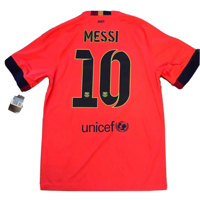Nike Fc Barcelona 2014 Away Soccer Jersey Men S Medium For Sale Online Ebay