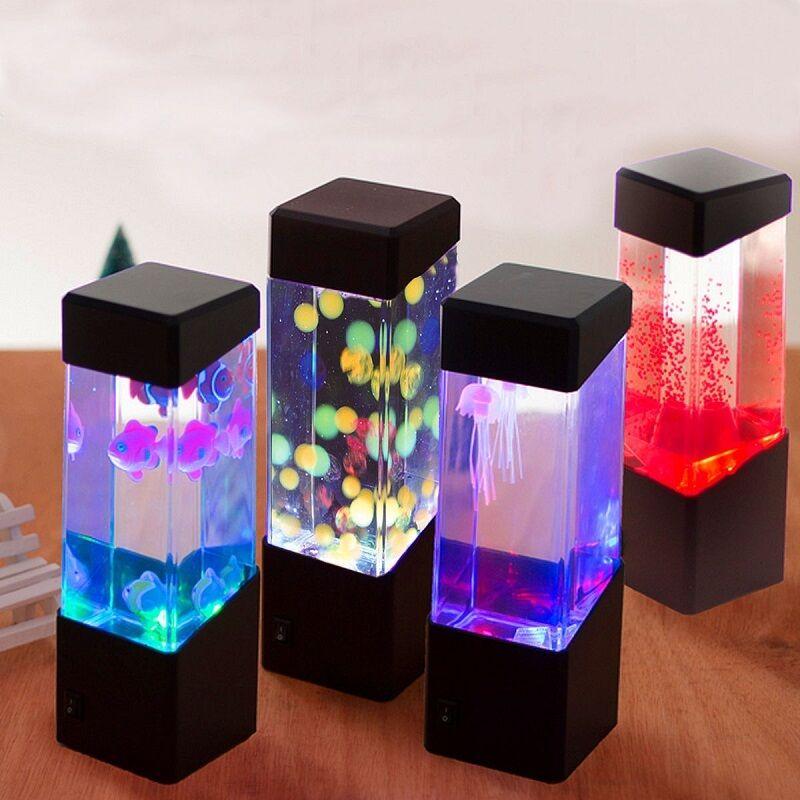 wasser szenerie aquarium tisch tischst nder einrichtung led licht lampe eur 13 17 picclick de. Black Bedroom Furniture Sets. Home Design Ideas