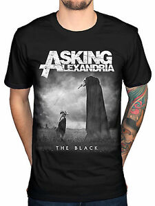 Asking-Alexandria-The-Black-Men-039-s-Cotton-Top-T-Shirt-Tee