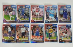 2019-20-Panini-Prizm-Premier-League-Soccer-Red-White-Blue-10-Card-Lot-EPL-Star