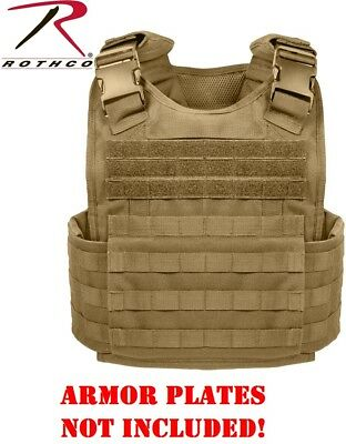 Black Plate Carrier MOPC Style For Armor Plates NOT INCLUDED Rothco 8922