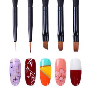 Liner-Flat-Acrylic-Painting-UV-Gel-Nail-Brush-Drawing-Pen-Matte-Handle-Manicure