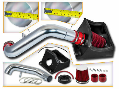 BCP RED 2011-2014 Ford Mustang GT 5.0 V8 Heat Shield Air Intake Kit