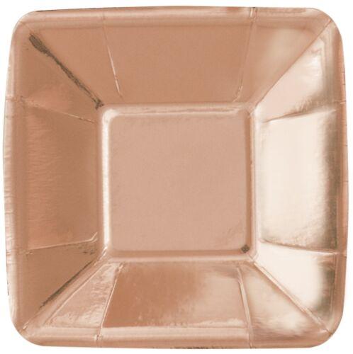 Vajilla 53477 Hoja De Oro Rosa Entremeses-Cuadrado-Baby Shower Fiesta provisiones