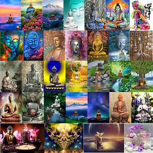 5D-DIY-Diamond-Painting-Blue-Buddha-Cross-Stitch-Embroidery-Mosaic-Craft-Decor