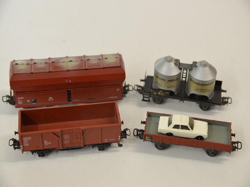 VI ) Märklin H0 4 Güterwagen Entladewagen Kesselwagen Niederbordwagen mit Ford  | Verschiedene Stile und Stile
