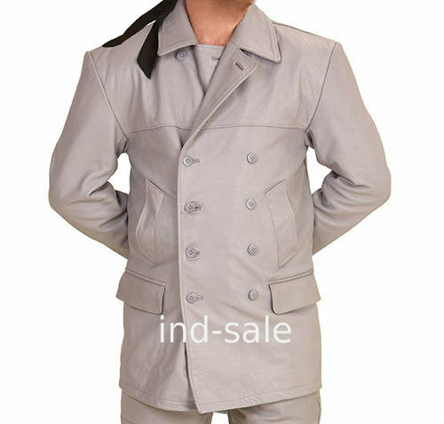 Tailor Made All Size Blazer Coat 100% Leather German Submarine UBoat WW2 Style