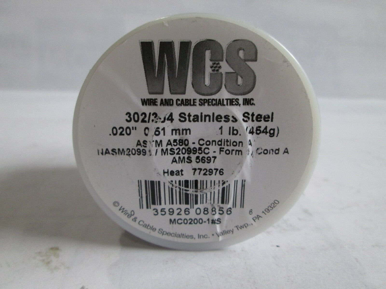 """1 Pound of Wire Eagle Claw Solid Core Lead Wire #WSCW-14 1//4/"""" Diameter"""