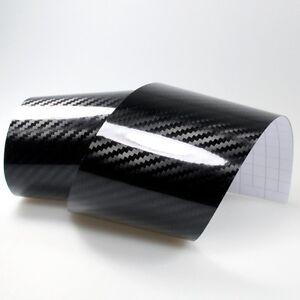 9-m-Carbone-5d-Noir-Brillant-Film-carbonfolie-Voiture-Film-Brillant-Black