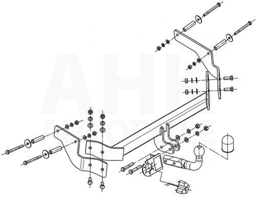 Für Peugeot Bipper Kasten Tepee Anhängerkupplung starr+ES 7p ABE