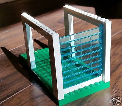 Genuine LEGO Rolling Garage Door Assembly Transparent Blue White Handle City