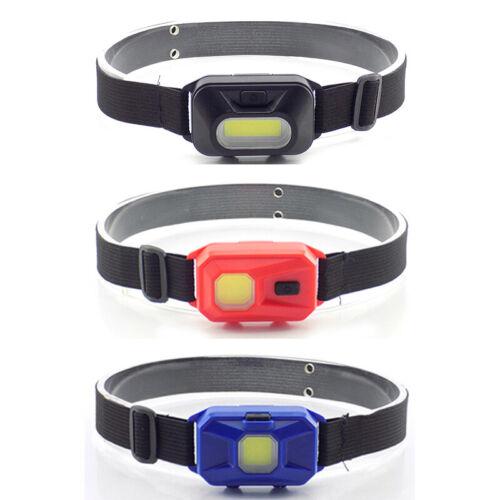 3-mode Mini COB Headlamp LED Headlight AAA Outdoor Fishing Head Torch Light Lamp
