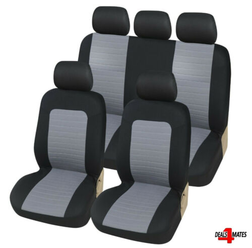 For Toyota Grey Breathable Soft Fabric Front /& Rear Car Seat Covers Full Set