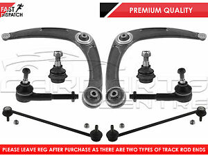 FOR-PEUGEOT-307-FRONT-LOWER-SUSPENSION-ARMS-LINKS-BALL-JOINTS-TRACK-TIE-ROD-END