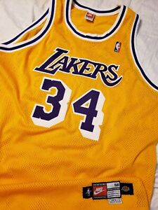 a09008105e22 Shaquille O Neal 1998-99 Los Angeles Lakers Nike Authentic Pro Cut ...