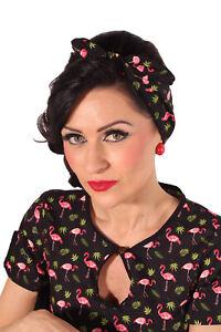 Details Zu Flamingo Rockabilly Haarreif Pin Up Sommer Frisuren Haarband