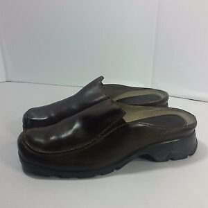 Details about Women's Timberland SMART COMFORT Clogs Shoes Walking Hiking Brown Leather 10 M