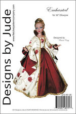 """Enchanted Gown Doll Clothes Sewing Pattern for 16"""" Ellowyne Wilde Dolls Tonner"""