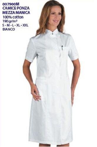 Woman Cod Isacco m Ποδιά Ponza 007900m Ιατρική shirts 100 M Medische jurk White katoenen 1Bnx7Sn5