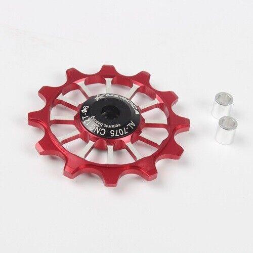 1x MEROCA bike 12T Narrow Wide Jockey Wheels Ceramic Bearing Derailleur Pulley