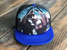 Trucker Hat SnapBack Tupac 2Pac Makaveli Adjustable Strap Tri Color BLUE/BLACK