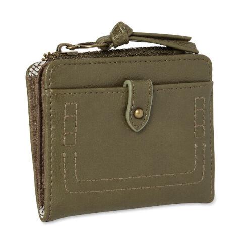 Time And Tru Women/'s Julia Mini Wallet Solid coin Holder Zipper pouch billfold
