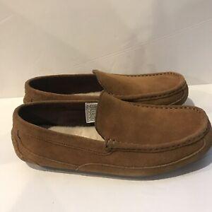 13eeb89cd08 Details about Men's UGG Alder Moc Chestnut Brown Slippers Loafers US 9