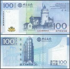Macau (Macao) 100 Patacas 2008(2009) UNC**New