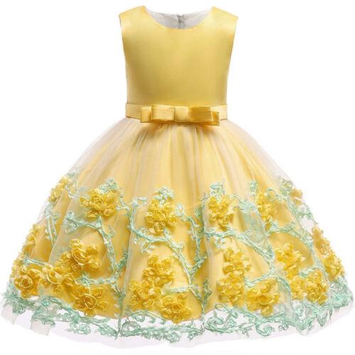 Vestidos Ropa de Moda Para Niña Largos Casuales Elegante De Verano Encaje