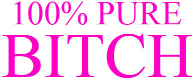 100/% pure bitch girl girls girly funny rude pink vinyl car van sticker graphic