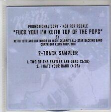 (CH570) Keith Top Of The POPs, sampler - 2011 DJ CD