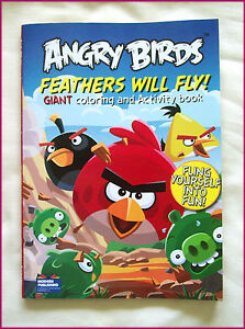 ANGRY-BIRDS-JUMBO-96p-ACTIVITY-amp-COLOURING-IN-Colour-in-BOOK-FEATHERS-FLY-Color