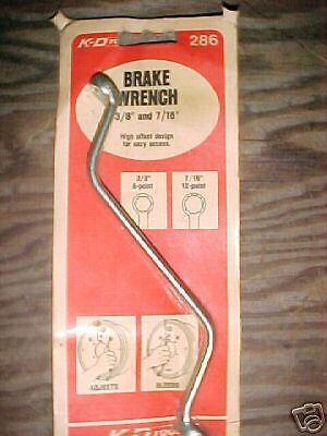 """Brake Wrench 3//8/"""" and 7//16/"""" #286"""