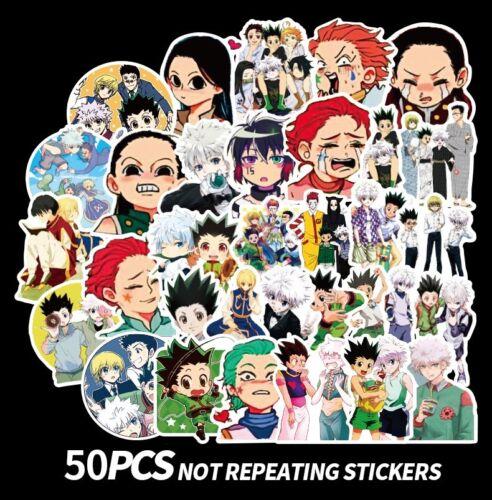 50 pcs Anime Hunter x Hunter Vinyl Stickers for Skateboard//Laptop//Book//Luggage