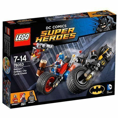 76053 GOTHAM CITY CYCLE CHASE batman lego legos set NEW DC Harley Quinn deadshot