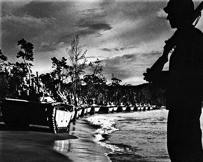 INVASION OF CAPE GLOUCESTER 8X10 PHOTO WWII