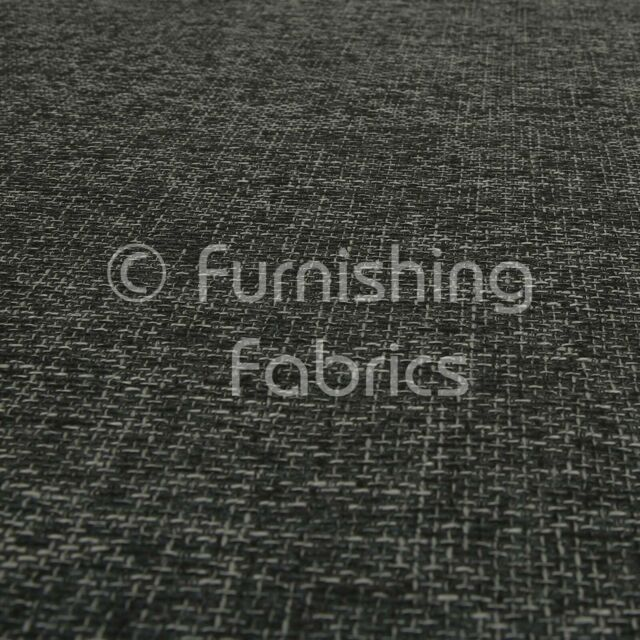 10 Metres of Heavy Woven Texture Hopsack Sofas Curtains Black Upholstery Fabric