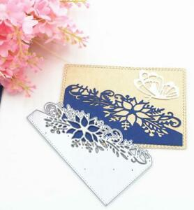 Leaf Lace Frame DIY Cutting Dies Stencil Scrapbooking Album Paper Card Embossing