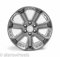 """4 Cadillac Escalade Esv Ext Gun Metal Chrome Inserts 20"""" Wheels Rims 5660"""